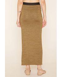 Forever 21   Brown Contemporary High-slit Skirt   Lyst