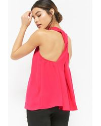 Forever 21 - Pink Mock Neck Trapeze Top - Lyst