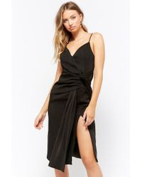 Forever 21 - Black Twist-front Cami Dress - Lyst