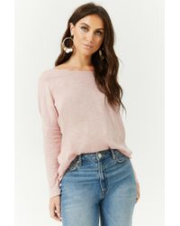 Forever 21 - Pink Women's Twist-back Top - Lyst