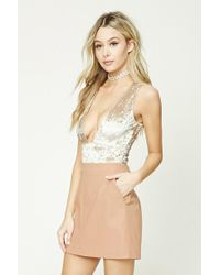 Forever 21 Natural Faux Leather Mini Skirt