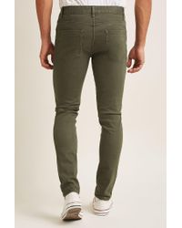 Forever 21 - Green Low-rise Skinny Jeans for Men - Lyst