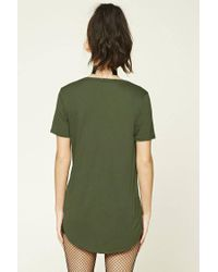 Forever 21 - Green Scoop Neck Tee - Lyst