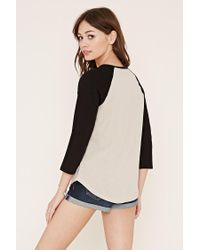 Forever 21 - Brown Classic Baseball Tee - Lyst