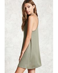 Forever 21 - Green Cami Swing Dress - Lyst