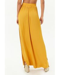 Forever 21 - Yellow Satin Maxi Skirt - Lyst