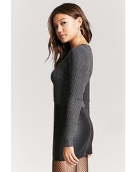 Forever 21 - Gray Caged Ribbed Sweater - Lyst