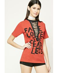 Forever 21 Red Fate Loves The Fearless Top