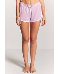 Forever 21 - Pink Lace-up Pyjama Bottoms - Lyst
