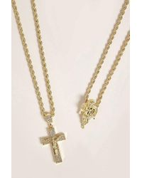 Forever 21 - Metallic Men Akademiks Pendant Necklace Set - Lyst