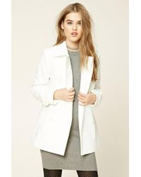 Forever 21 - Multicolor Double-breasted Pea Coat - Lyst