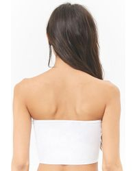 Forever 21 - White Seamless Knit Bandeau - Lyst
