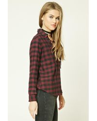 Forever 21 - Multicolor Buffalo Check Lace-up Shirt - Lyst