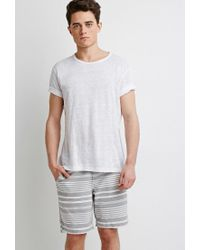 Forever 21 - Gray 's Mixed Stripe Shorts for Men - Lyst