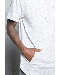 Forever 21 - White Marled Knit Hooded Tee for Men - Lyst
