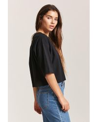 Forever 21 - Black High-low Tee - Lyst