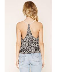 Forever 21 - White Abstract Rope Cami - Lyst