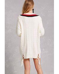 Forever 21 - White Twelve Varsity Sweater Dress - Lyst