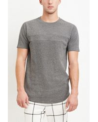 Forever 21 - Gray Curved-hem Thermal Tee for Men - Lyst