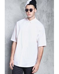 Forever 21 - White Slim-fit Woven Shirt for Men - Lyst