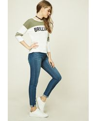 Forever 21   Natural Brilliant Graphic Top   Lyst