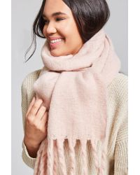 Forever 21 - Pink Fringed Oblong Scarf - Lyst