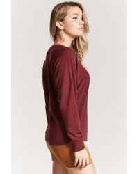 Forever 21 - Red Classic Knit Sweater - Lyst