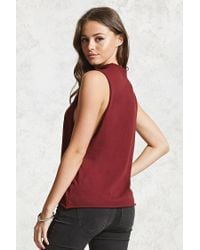 Forever 21 - Red Grommet Choker Muscle Tee - Lyst