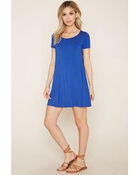 Forever 21 - Blue T-shirt Mini Dress - Lyst