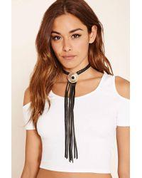 Forever 21 - Metallic Ettika Leather Tassel Necklace - Lyst