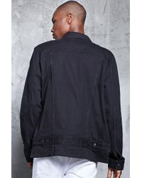 Forever 21 - Black High-low Denim Jacket for Men - Lyst