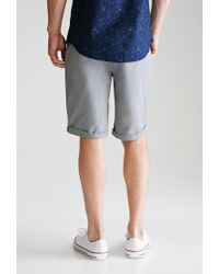 Forever 21 | Gray Cuffed Chino Shorts for Men | Lyst