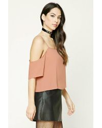 Forever 21 - Multicolor Open-shoulder Crop Top - Lyst