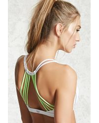 Forever 21 - Multicolor Low-impact Webbed Sports Bra - Lyst