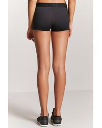 Forever 21 - Black Women's Active Never Too Late Graphic Shorts - Lyst