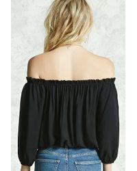 Forever 21 - Black Off-the-shoulder Top - Lyst