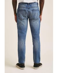 Forever 21 - Blue 's Faded Slim-fit Jeans for Men - Lyst