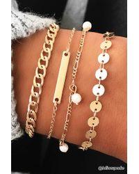 Forever 21 | Metallic Curb Chain Bracelet Set | Lyst