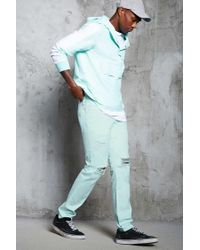 Forever 21 - Blue Slim-fit Distressed Jeans for Men - Lyst
