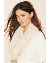 Forever 21 | Natural Woven Infinity Scarf | Lyst