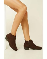 Forever 21 | Blue Faux Suede Ankle Booties | Lyst