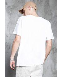 Forever 21 | White Slub Knit Pocket Tee for Men | Lyst