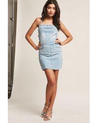 Forever 21 - Blue Strappy Denim Dress - Lyst