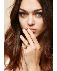 Forever 21 | Metallic Amber Sceats Thunderball Ring | Lyst