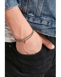 Forever 21 - Metallic Bead Relief Layered Bracelet - Lyst