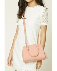 Forever 21 | Pink Faux Leather Satchel Bag | Lyst