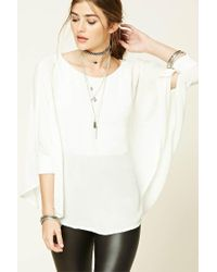 Forever 21 | Multicolor Dolman-sleeve Cape Top | Lyst