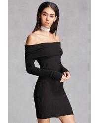 Forever 21 Black Off-the-shoulder Dress
