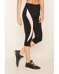 Forever 21 - Black Active Colorblock Leggings - Lyst