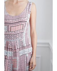 Forever 21 - Pink Abstract Grid Cutout Jumpsuit - Lyst